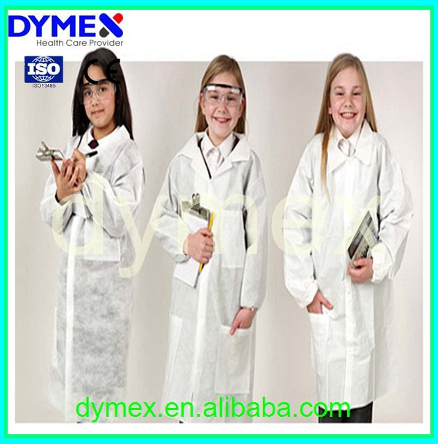 Non Woven Fabric Disposable Medical Protective Kids Lab Coats Cheap