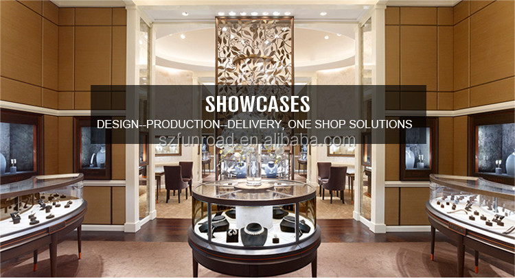 Fashion middle and high-end Watch glass display cabinet showcase for shopping mall