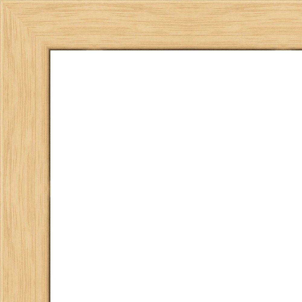 20x30 - 20 x 30 Natural Oak Flat Solid Wood Frame with UV Framer's Acrylic & Foam Board Backing - Great For a Photo, Poster, Painting, Document, or Mirror
