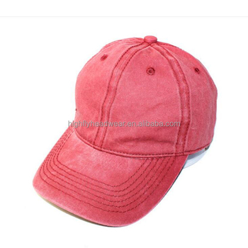 c2339f7012a960 custom mens women's red 100cotton 6 panel plain washed unstructured dad hat  blank distressed baseball caps