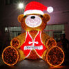 Wholesale warm color large led teddy bear christmas decoration