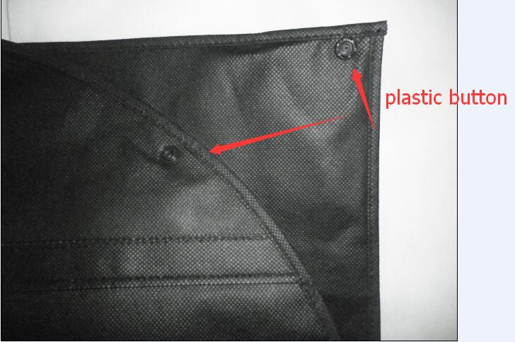 non woven suit bag foldable with button