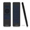 Mini RF Wireless Fly Air Mouse Backlit Keyboard IR Remote voice Control for Onida samsung lg smart TV box Android iptv