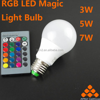 Factory directly sell plant growing RGB magic light color changing led bulb with remote control CE certificate