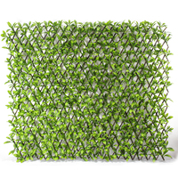 Customized Artificial Leaves Fence Hedge Trellis for Landscape Exterior Ivy Wall Covering Decoration