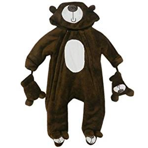 Baby Bear Microplush Snowsuit for Infants 3-6 Months by LaVision Clothing