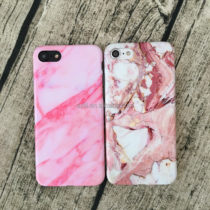 Korea Blue Pink painted Marble Phone Case for IPhone 7 7plus 6s 6 6Plus Girls Soft Tpu Silicone Case Back Cover