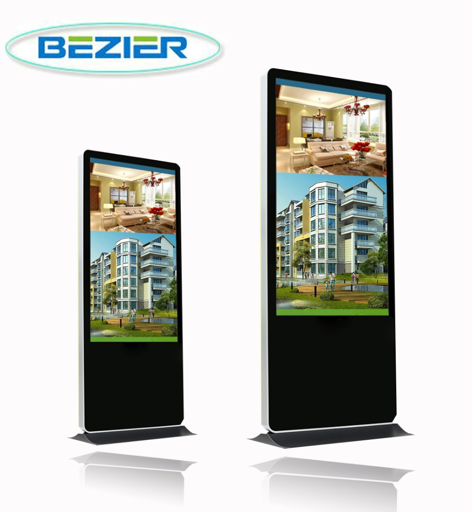 42 inch totem floor standing strong metal case vandal proof digital signage
