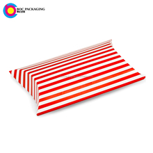 Customized packaging 20cm fancy stripe sweets pillow paper case boxes