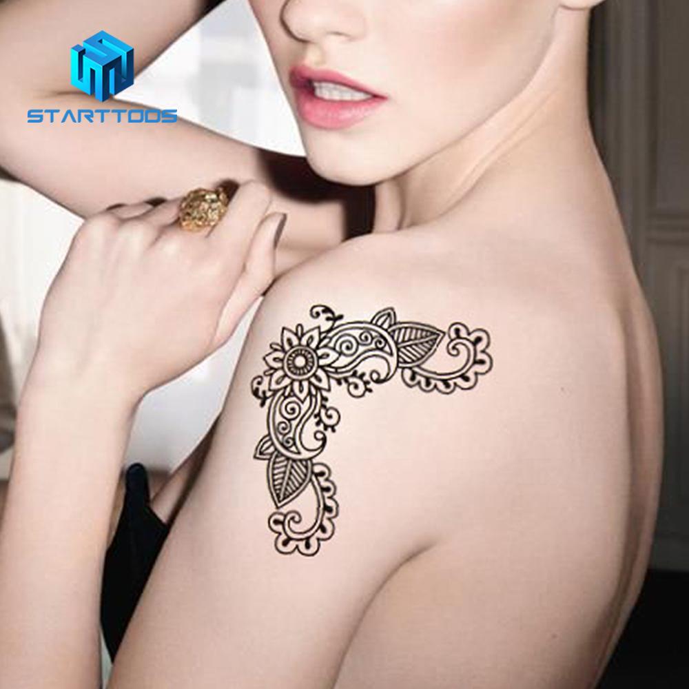 Ant Temporary Tattoo Arabic Henna Design Custom Made Floral Henna Mehndi  Body Temporary Tattoo Sticker Sexy Lace Henna Tattoos , Buy Custom  Temporary