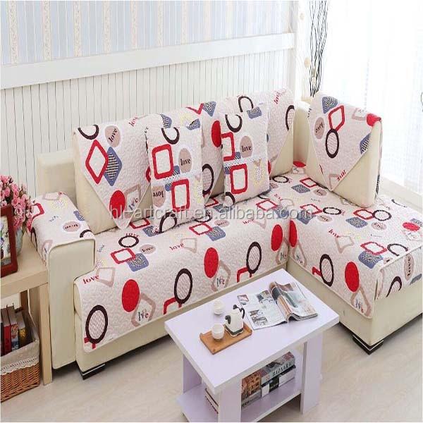 Lo nuevo super suave barato patchwork funda sofa cubre - Patron funda sofa ...