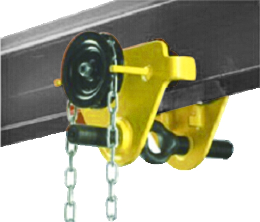 high quality 5t geared trolley crane, geared trolley for chain hoist