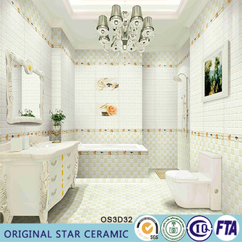 Ceramic Bathroom And Kitchen Flower Design Wall Tile