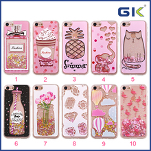 [GGIT] New Cute Pink Style Liquid TPU Phone Case For iPhone 7 Celulares Cover
