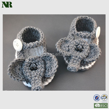 New Fancy Baby Girls Crochet Knitted Shoessoft Wool Infant Toddler