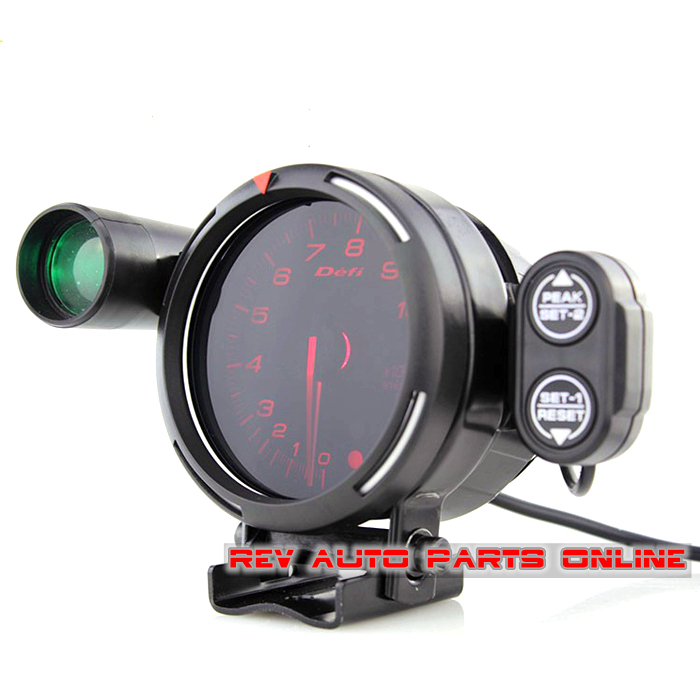 red backlight 80mm stepper motor defi bf racing auto gauge tachometer rpm meter with tachometer. Black Bedroom Furniture Sets. Home Design Ideas