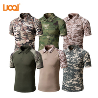 Wholesale 100% Cotton Polo Neck Army Clothing, Breathable Military T Shirts, Camouflage Polo T shirts