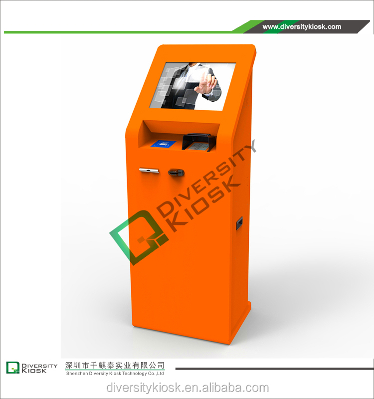 tel / transport card recharging countertop bill payment kiosk vandal proof stainless keyboard