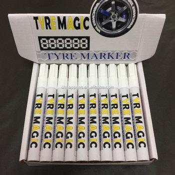 Car Moto Auto Permanent Tyre Tread Rubber Marker Paint Pen Waterproof