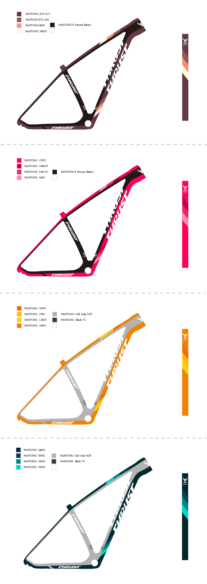 2018 New design MTB bike Carbon bicycle Frame 27.5er 29er 15/17/19 inch design.