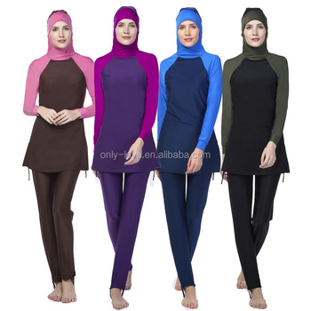 Wholesale women girl Muslim swimsuits Islamic swimwear Muslim swimwear SW008