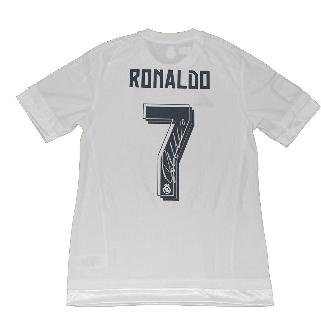 Get Quotations · Cristiano Ronaldo Autographed Real Madrid 15 16 Home Shirt  Icons Authenticated d66db9804