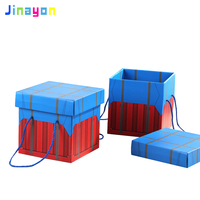 Jinayon New Custom size and color Gift Packaging Box Empty Carton Square