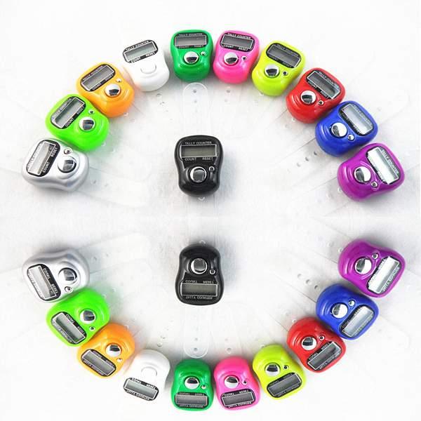 1 PC Mini Electronic Digital Tally Counter Hand Ring finger Tasbeeh Tasbih Neue