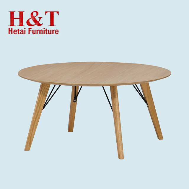 Wooden Home Furniture Mdf Coffee Table With Wood Legs Oak Veneer Coffee  Table With Oak Lges