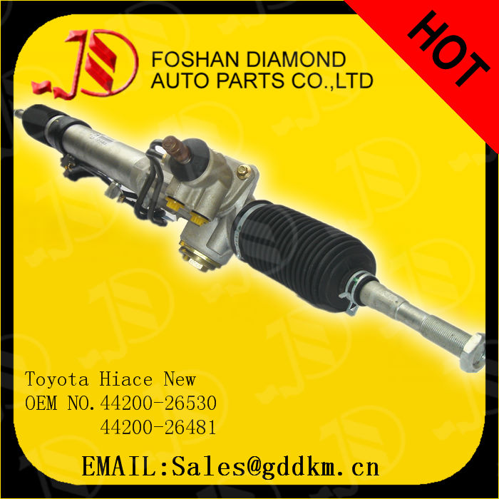 Types of steering gear box/toyota hiace steering rack/power steering rack for toyota hiace new OEM:44200-26530/44200-26481 LHD