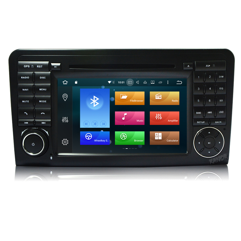 Android 9.0 4 + 32g Voiture DVD GPS Radio Pour Mercedes Benz ML 350 450 550 W164