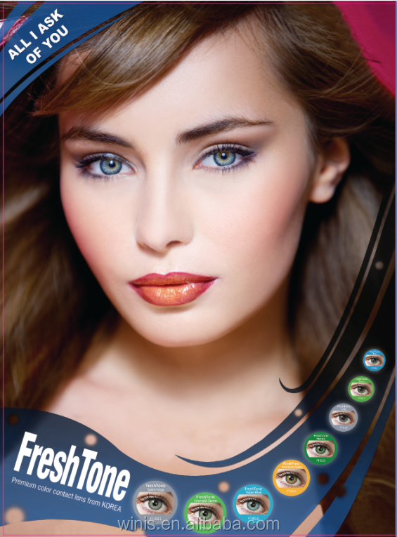 New fresh tone best selling premium bright tri color contact lenses