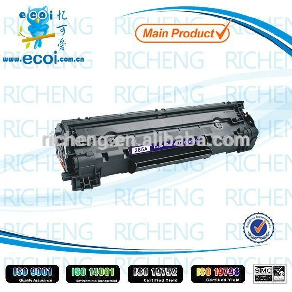 Premuim laser toner cartridge CE285A for printers P1102 from China top supplier
