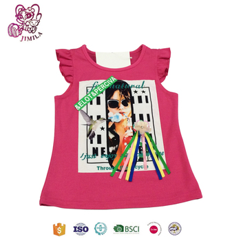 summer girls clothing boutique vest factory sales with promotion
