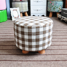 Hot salling wooden legged line fabric home ottoman and footstool with removed and washed fabric /good quality and best price