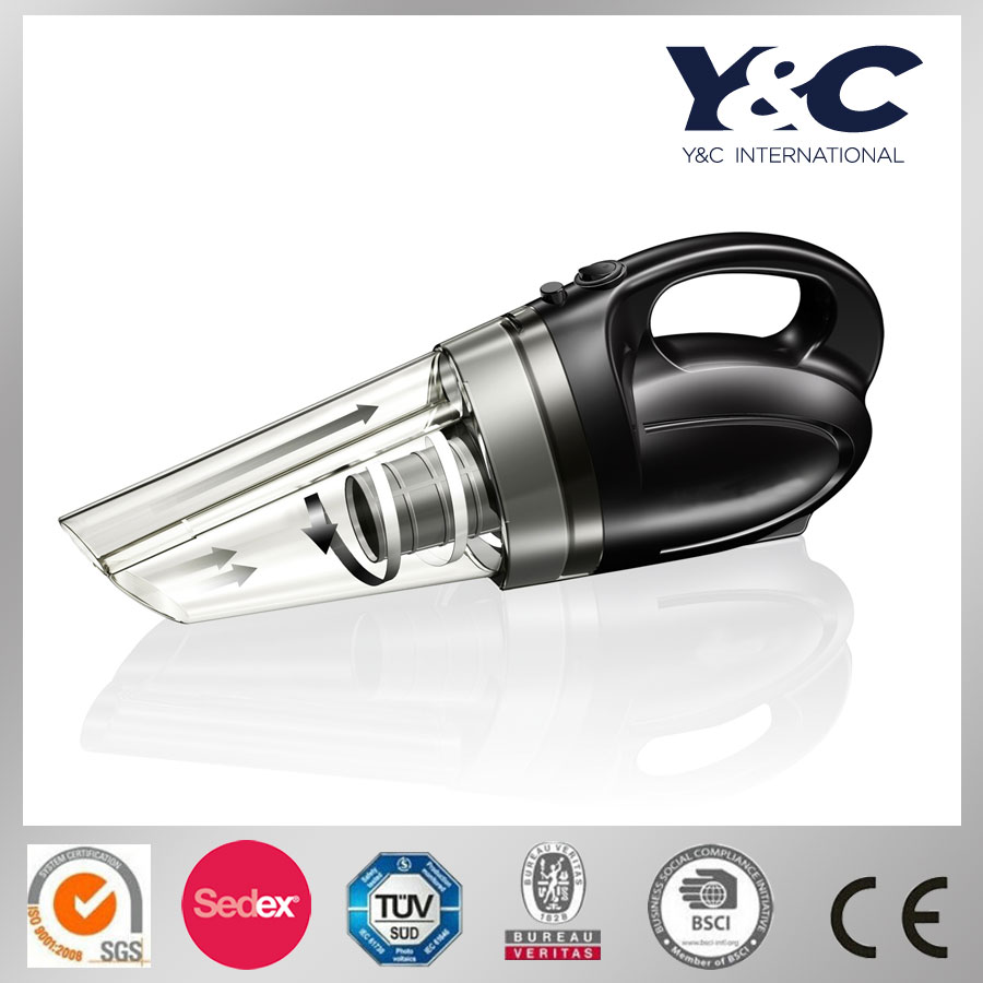 High quality ABS material portable cyclone handheld 12V car vacuum cleaner