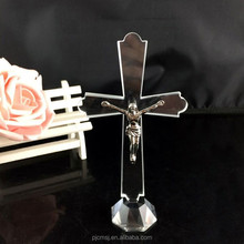 Fancy Wholesale Cheap Crystal Glass Cross for Gift COM034