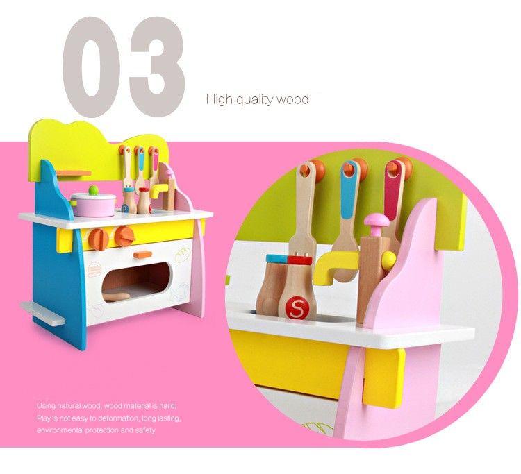 New Design Wooden Kitchen Toy, Girlu0027s Wooden Play Kitchen, Intelligent Kid  Toys Wooden Kitchen