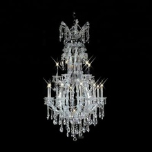 Maria theresa glass artistic luxury crystal tea light chandeliers