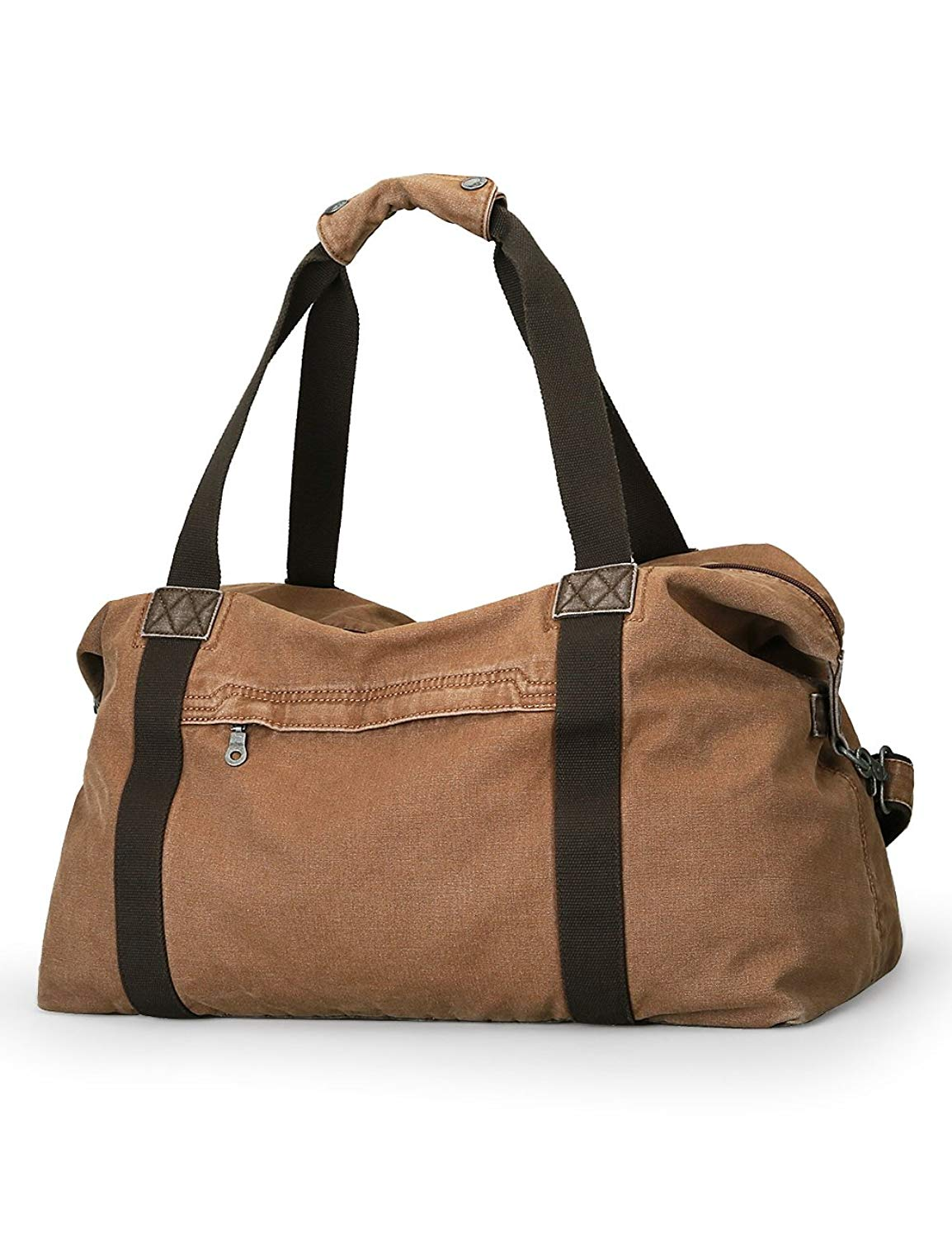 Muzee Oversized Classic Vintage Canvas Travel Duffel Hand Bag Weekender Bag Travel Tote Luggage for men or women
