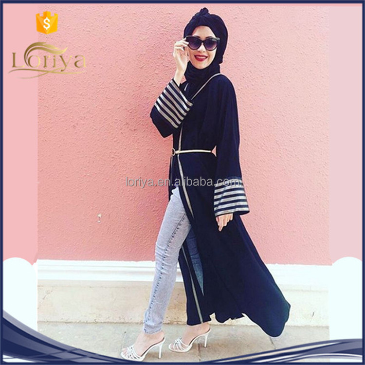 High end Dark blue long dress, new moslem design abaya, jilbab Malaysia