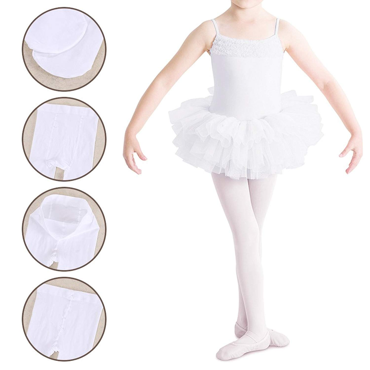db76a17f1a20 Buy Canyixiu Tights for Girls Ballet Toddler Dance Leggings Pants ...