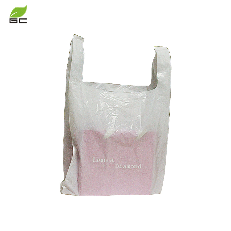 Wholesale Custom Printed Logo Take Away HDPE LDPE Vest T-shirt Plastic Food Shopping Bag