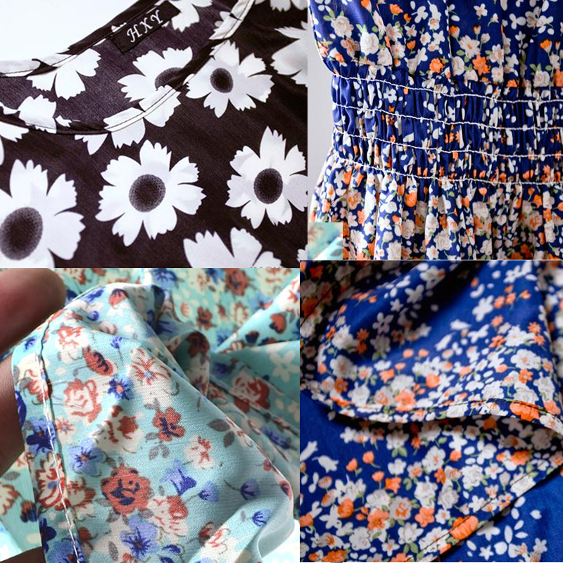 Boho Printed Short Casual Women Dresses Mini 20 Designs Party Floral Sleeveless Summer Dress