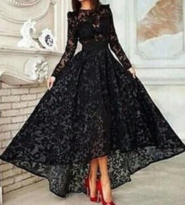 Black Ball Gown Prom Dresses 2017 Robe