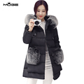 MOGE women winter jacket black women winter coat fashion thick leather female overcoat abrigos mujer invierno