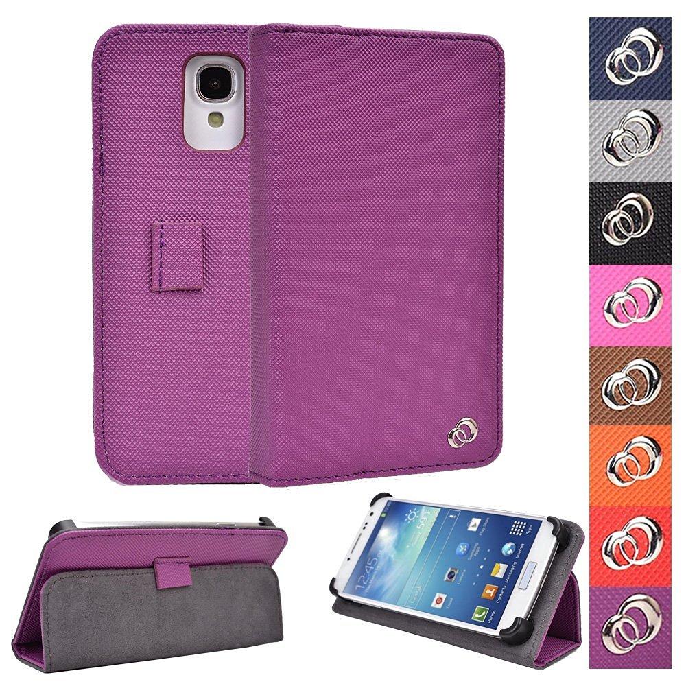 "KroO Acer Liquid Z330 Z320, M330 M320 4.5"" Universal Case | Grape Purple Phone Holder Cover W/Foldable Stand"