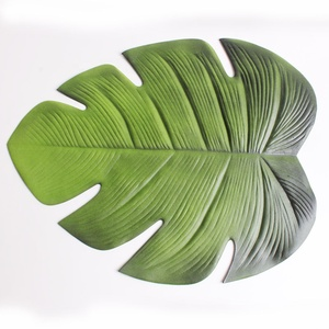 Creative Leaves Placemats,Stain Resistant Washable EVA Table Mats,Non-Slip Meal Mats Table Decoration