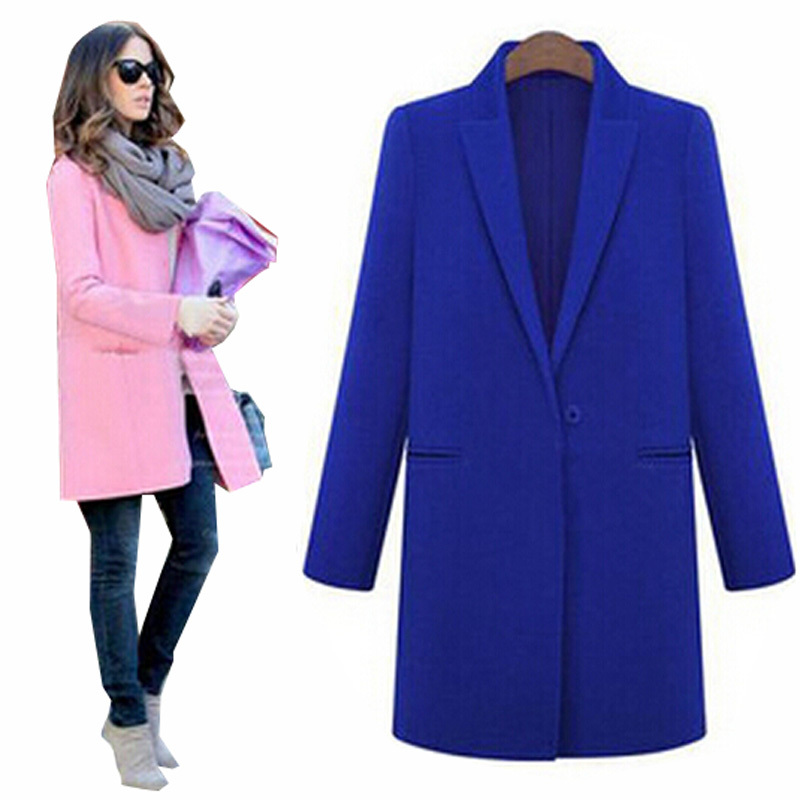 e8e2a11389 Get Quotations · Black Trench Coat 2015 New Fashion Women s Slim Long  Sections Wool Blended Coat Winter Womens Trench