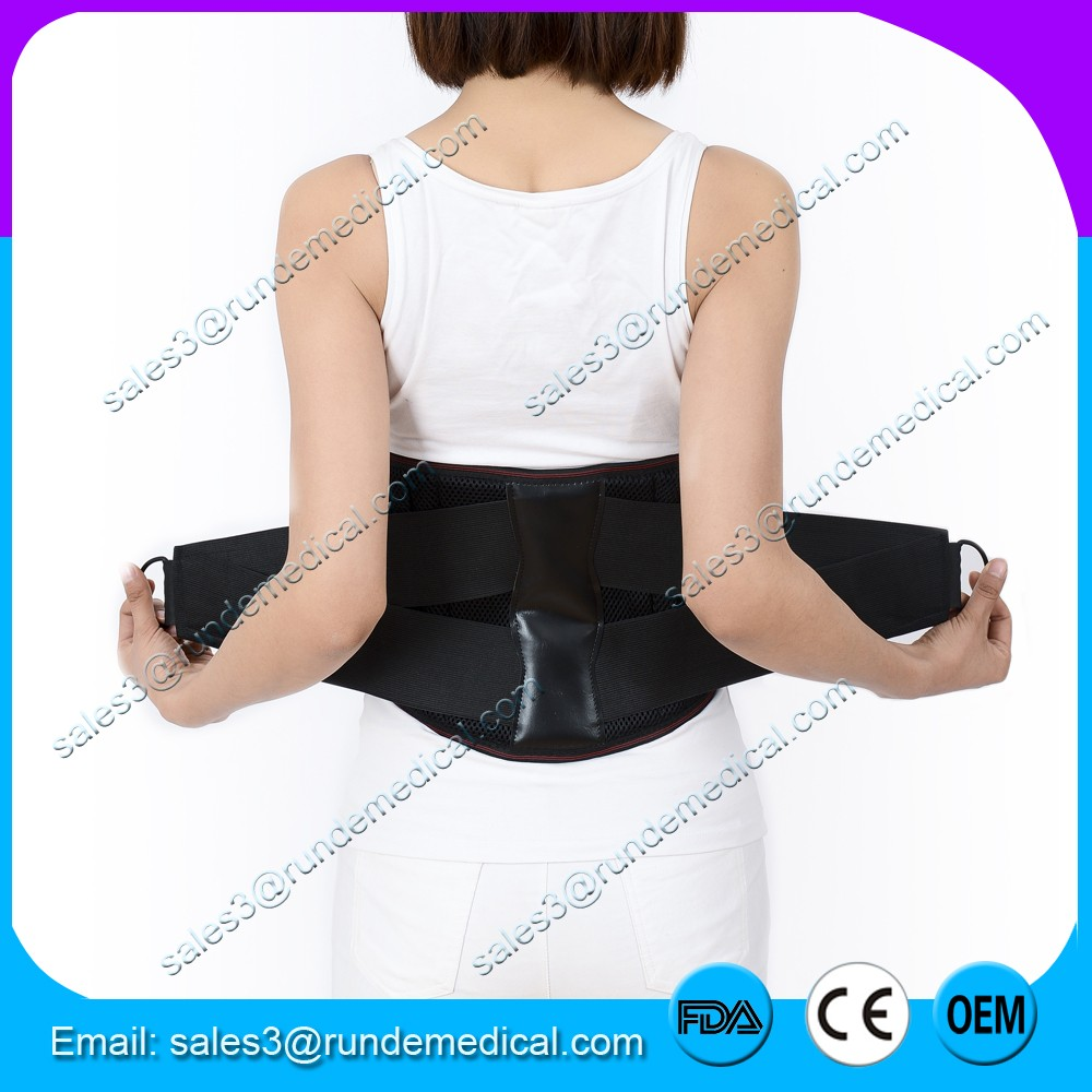 Runde Medical FDA CE adjustable back pain relief back brace for men with Metal Rings